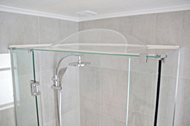 Frameless showerdome